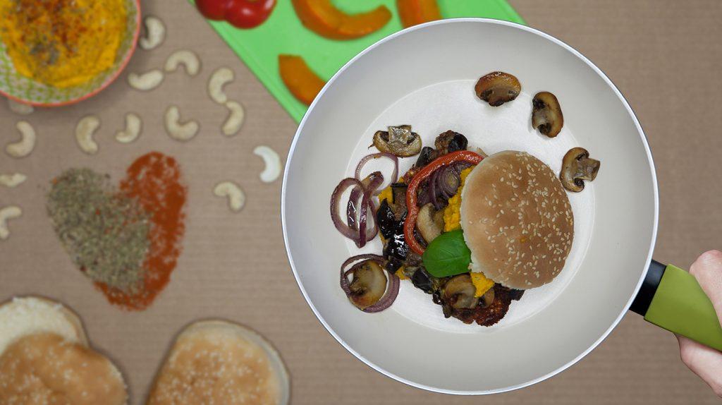 Auberginen-Feta-Burger