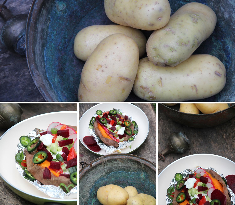 Süßkartoffel mit Kräuterquark