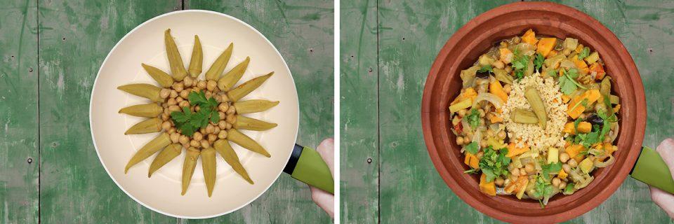 Gemüse-Tajine mit Bulgur