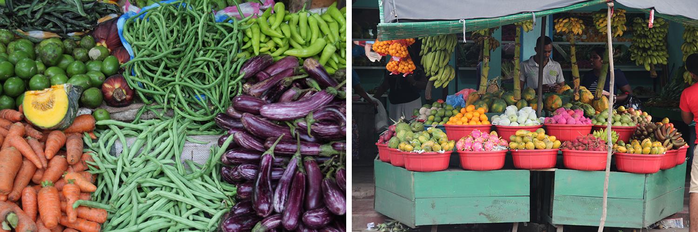 Obst und Gemüsestände Sri Lanka