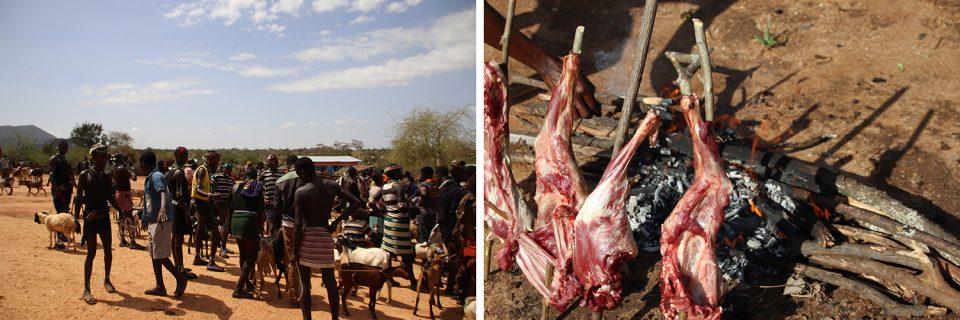 Tiermarkt bei dem Hammer-Volk im Süden