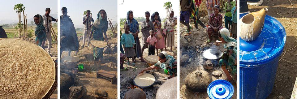 Herstellung von Injera